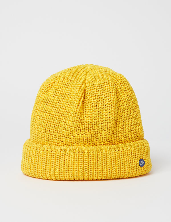 Stetson Hammaburg Wool Beanie Hat - Yellow