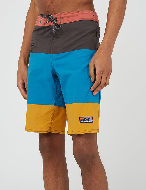 Short de bain Patagonia Stretch Wavefarer (21 po) - Color Block Breakup:Seaport