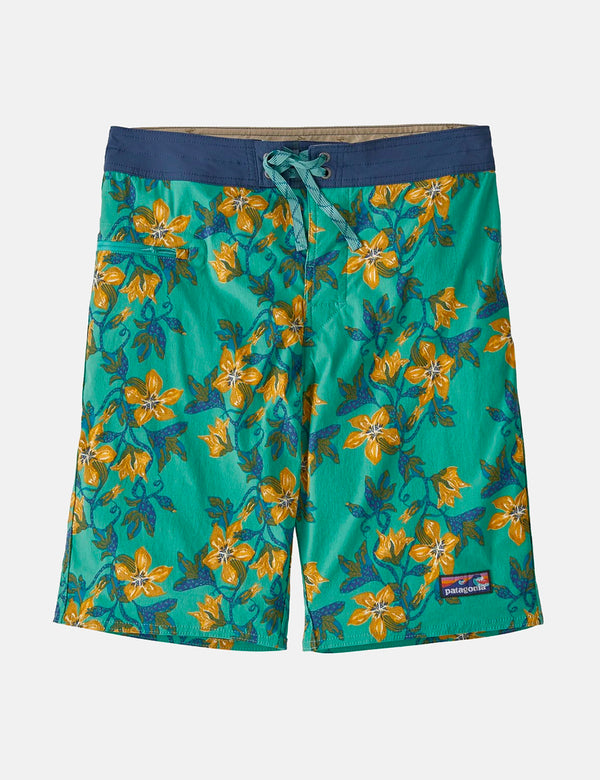 Short de bain Patagonia Stretch Wavefarer (21 po) - Squash Blossom:Light Beryl Green