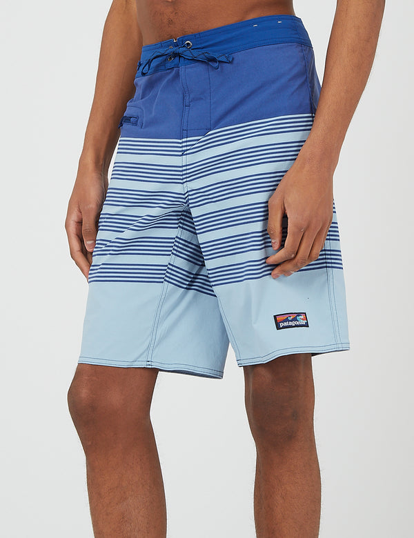 Short de bain Patagonia Stretch Wavefarer (21 po) - Stripe Row Band:Big Sky Blue