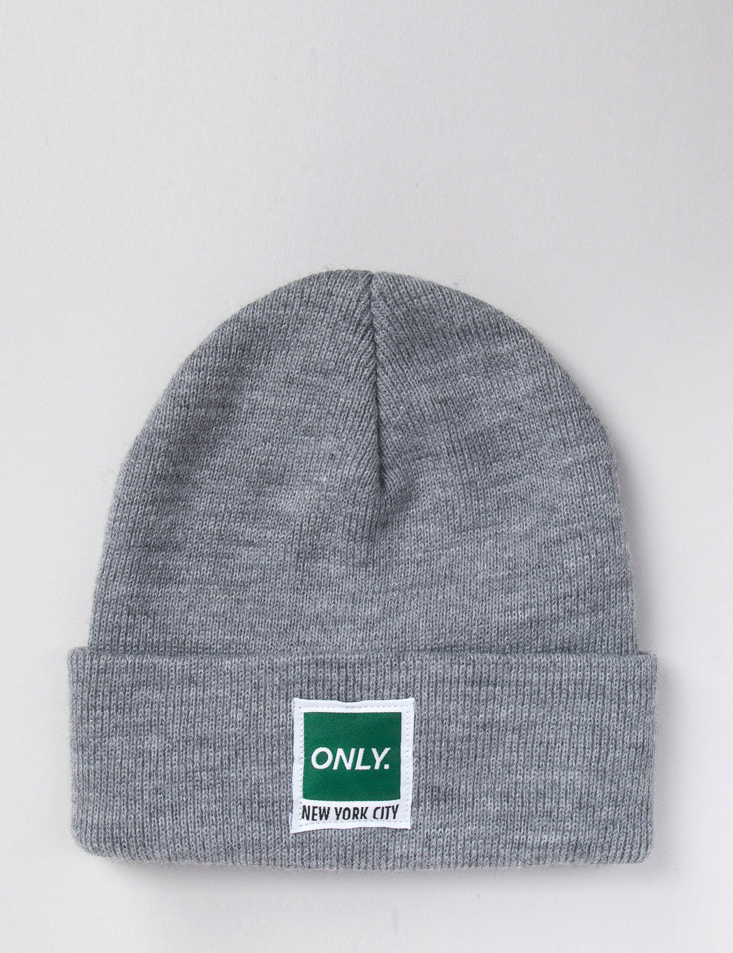 Only NY Messenger Beanie Hat - Grey