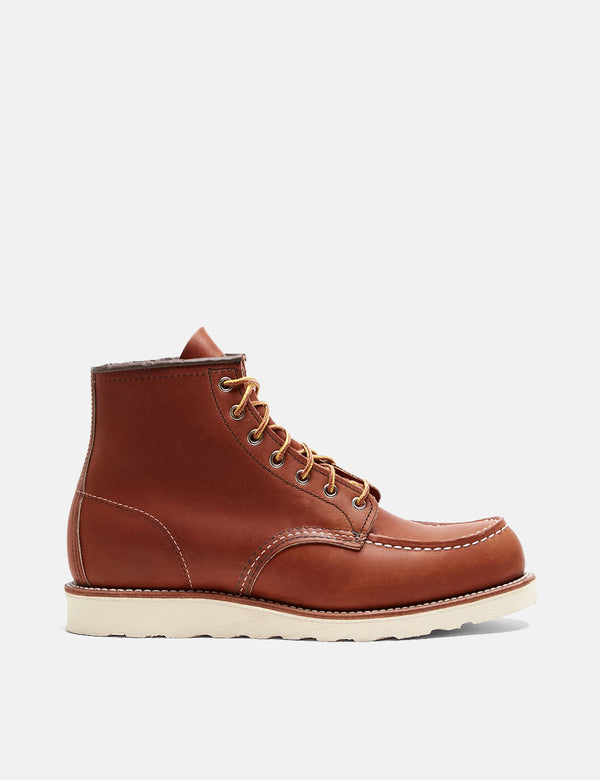"Red Wing Heritage Work 6"" Moc Toe Boots (875) - Tan"