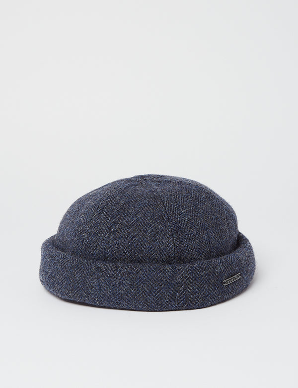 Stetson Docker Wool Herringbone Hat - Blue