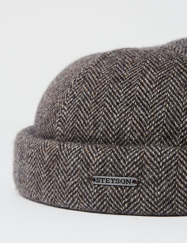 Chapeau Stetson Docker Wool Herringbone - Grey