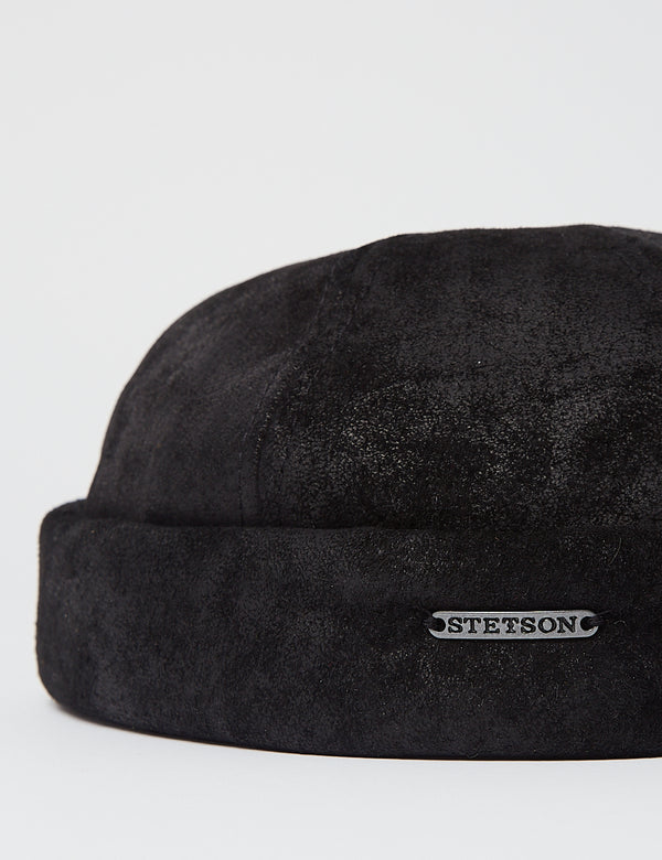 Stetson Docker Hat (Pig Skin) -  Black