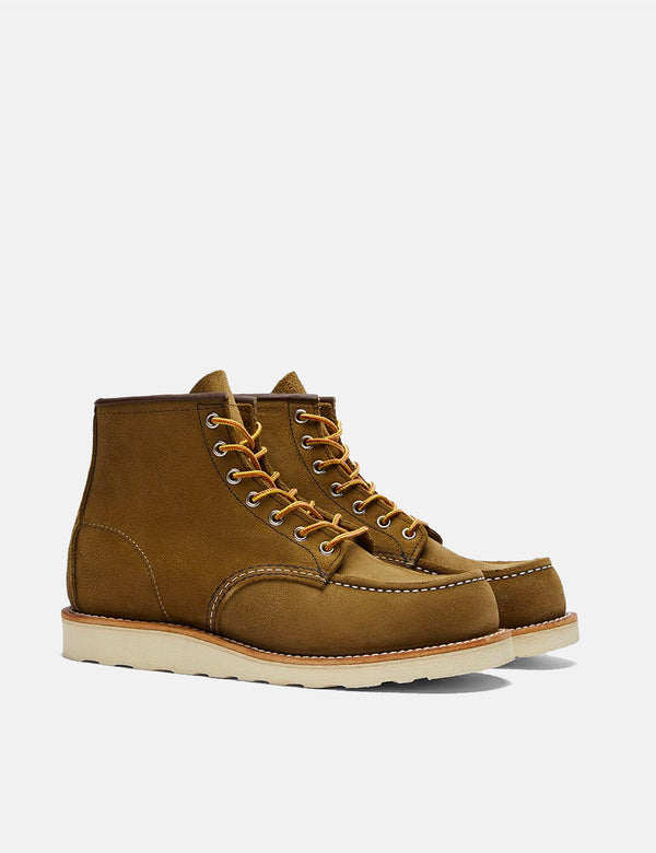 "Red Wing 6""Moc Toe Work Boot (8881) - Olive Green Mohave"