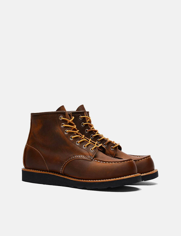 "Red Wing 6""Moc Toe Boots (8886) - Copper Rough & Tough/Black Traction Sole"