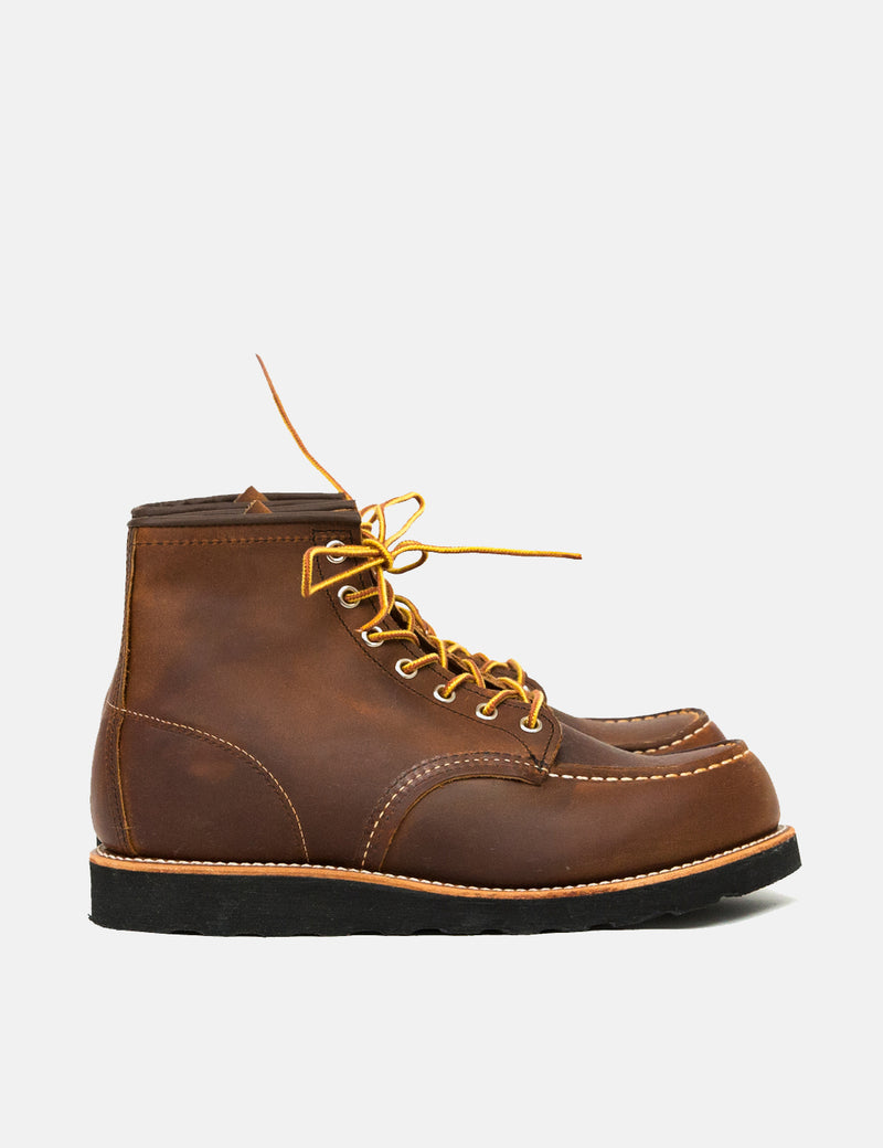 "Red Wing 6"" Moc Toe Boots (8886) - Copper Rough & Tough/Black Traction Sole"