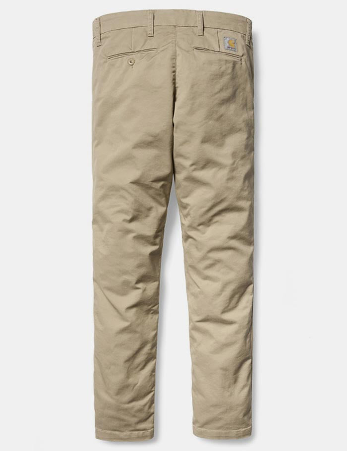 Carhartt Sid Pant Chino (Slim) - Khaki Leather Rinsed