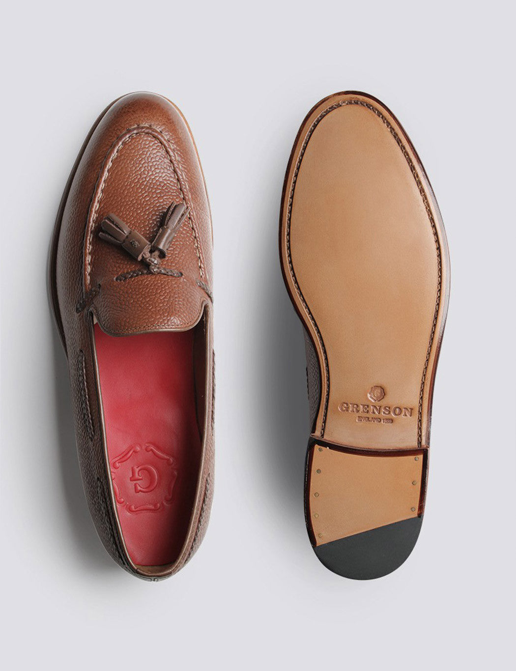 Grenson Scott Tassel Loafer - Dark Brown