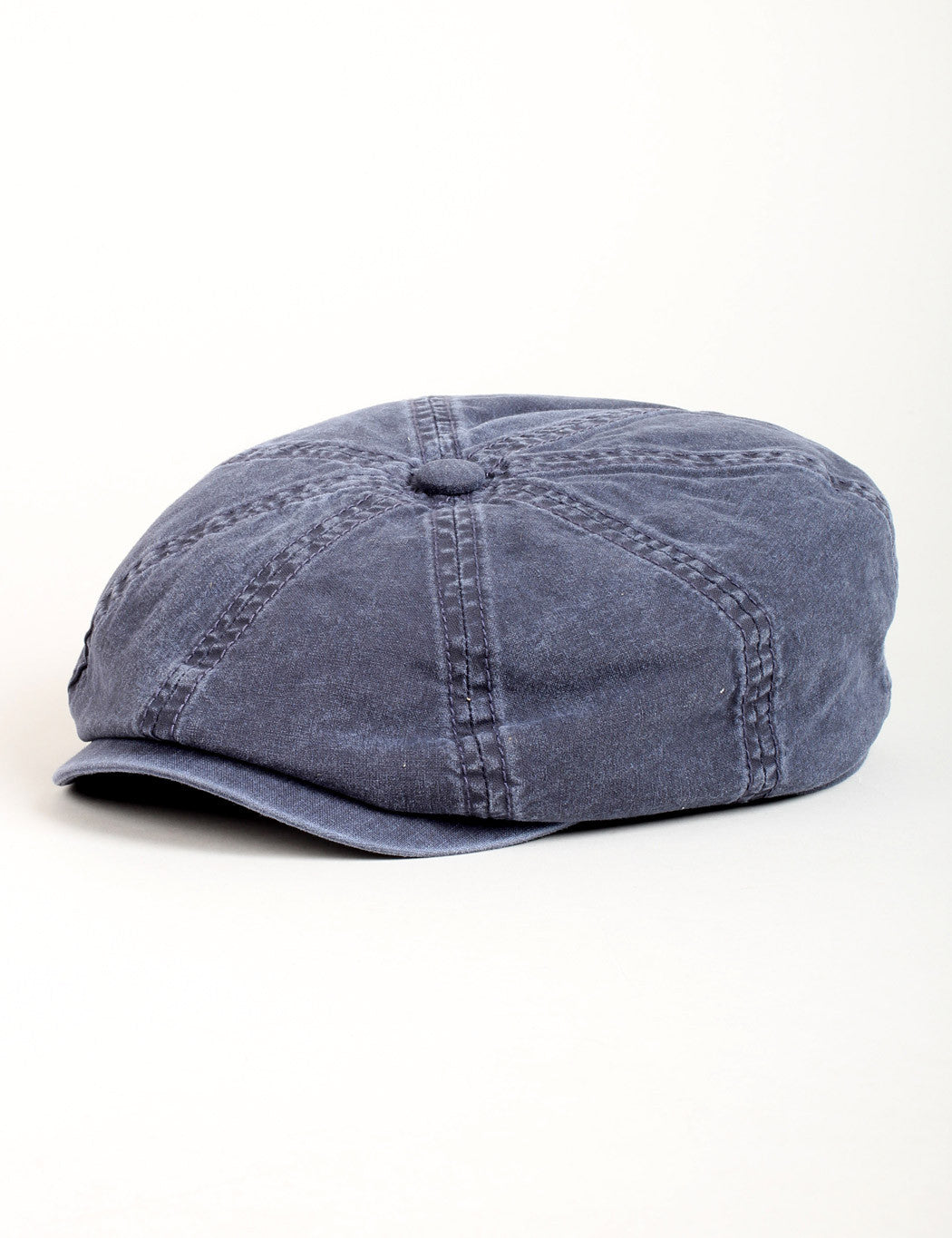 Stetson Hatteras Cotton Newsboy Cap - Washed Navy