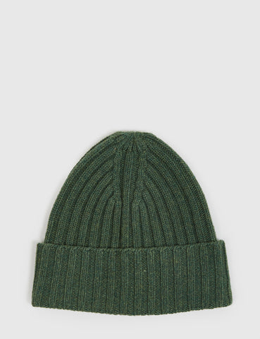 Gant Rugger Ribbed Beanie Hat - Forest Green