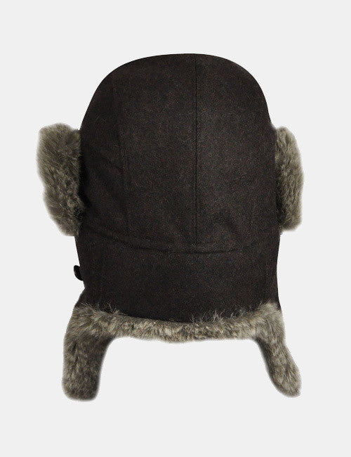 Bailey Bellamy Trapper Hat - Black Melange