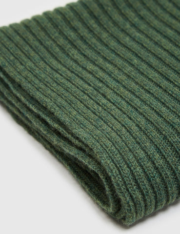 Gant Rugger Ribbed Scarf - Forest Green