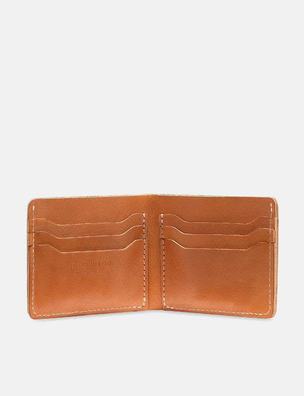 Red Wing Bi-Fold Dual Card Wallet - London Tan