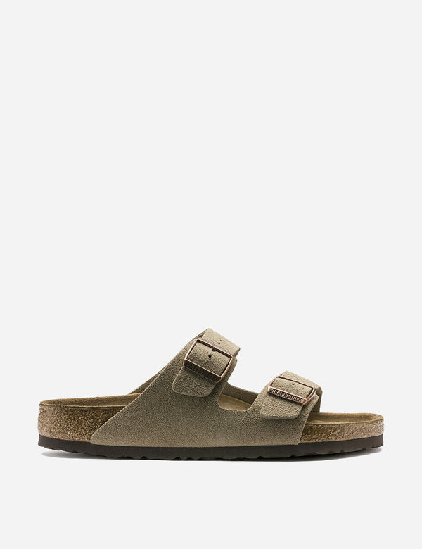 Birkenstock Arizona Sandals Suede (Regular) - Taupe Brown