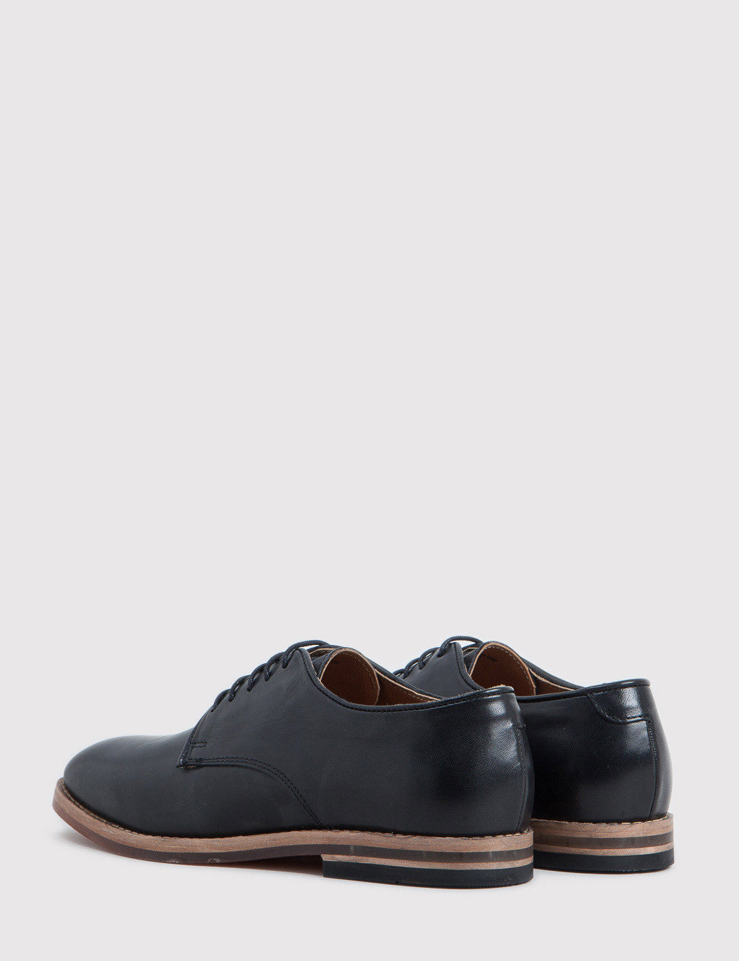 Hudson Hadstone Calf Leather Shoes - Black