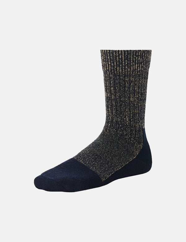 Red Wing Deep Toe Capped Wool Sock - Navy Blue