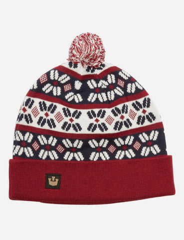 Goorin Lango Fair Isle Beanie - Red