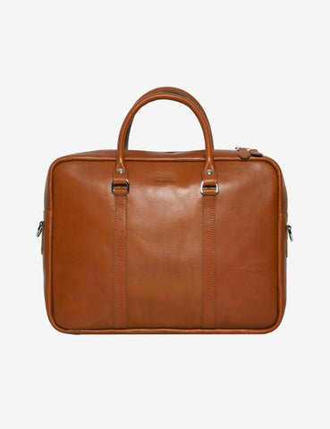 Sandqvist Robin Laptop Leather Bag - Cognac Brown