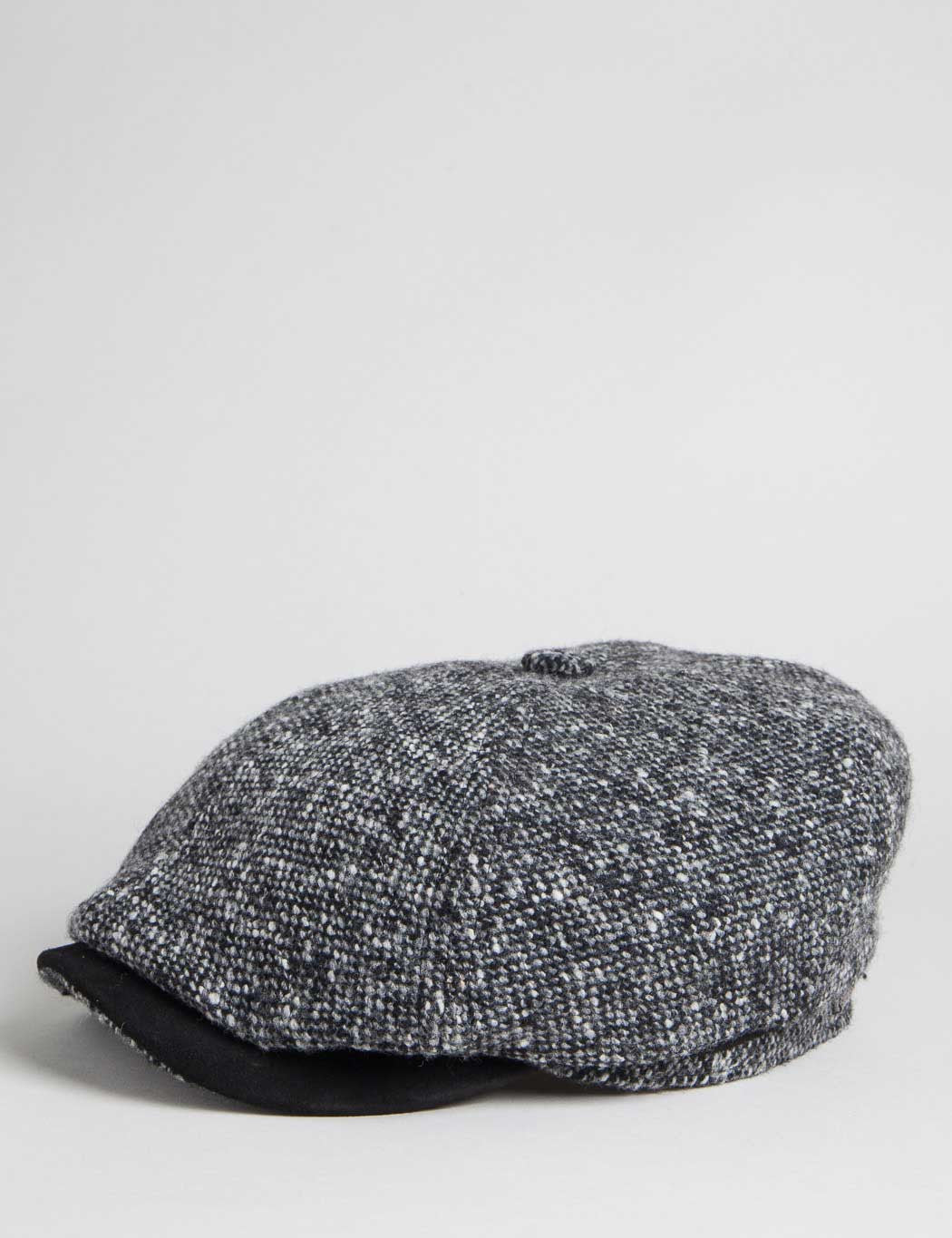 Stetson Brooklin Donegal Newsboy Cap - Black/Grey