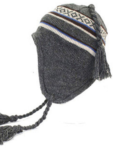 Thinsulate Peru Peruvian Beanie Hat - Charcoal
