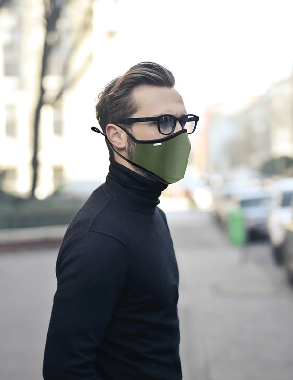 Breathe Face Mask Inc. Filter -  Olive Green