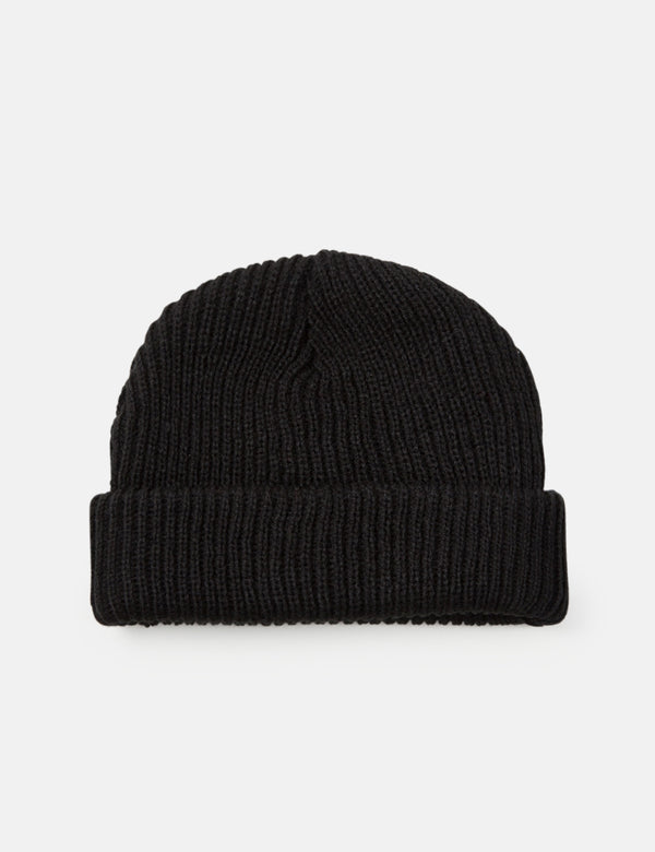Article. Bonnet Fisherman Rib Beanie - Noir