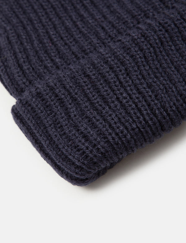 Article. Fisherman Rib Beanie Hat - Navy Blue
