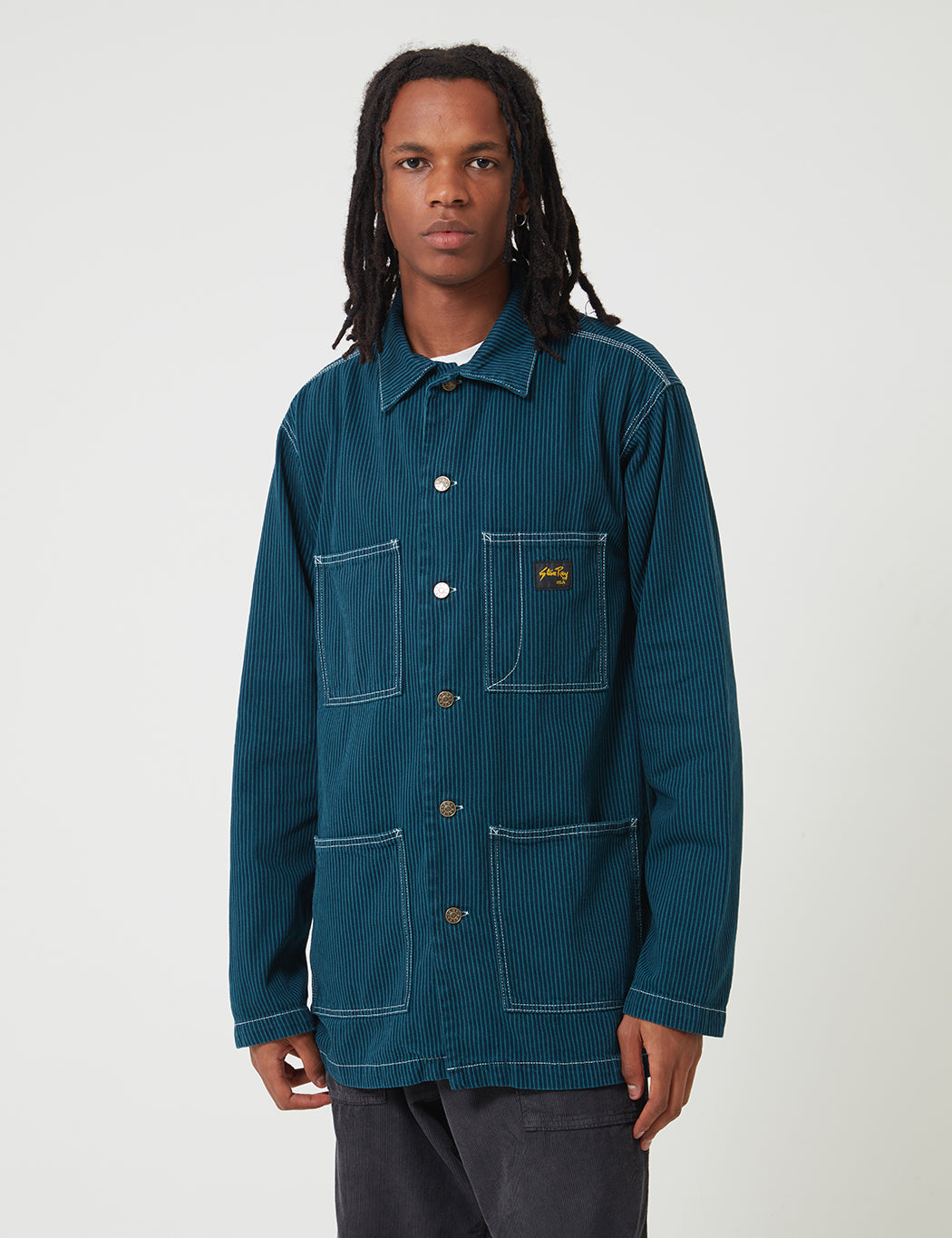 Stan Ray A2 Deck Jacket - Carbon Green Hickory | URBAN EXCESS.