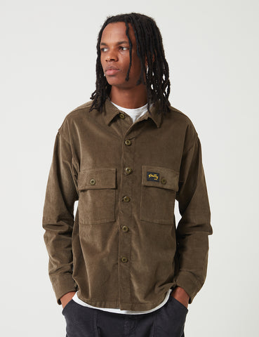 Stan Ray Cord CPO Shirt - Olive Green