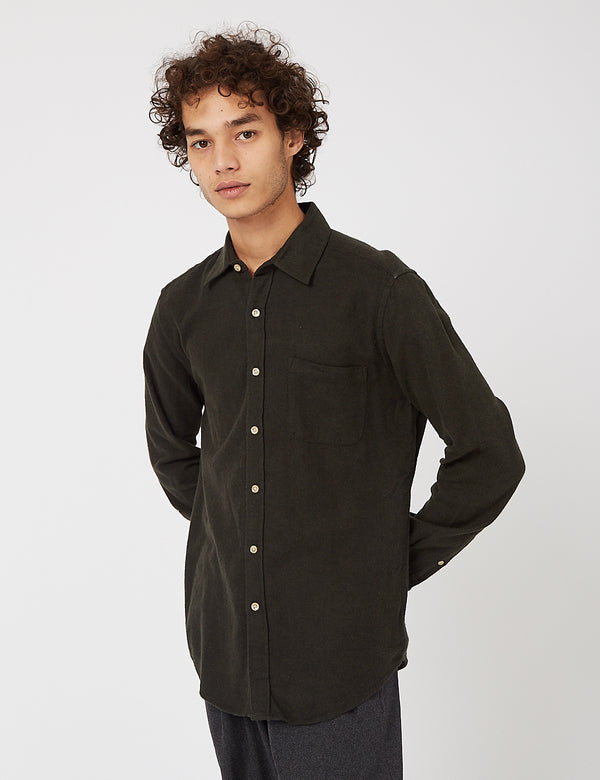Portuguese Flannel Teca Shirt - Dark Green