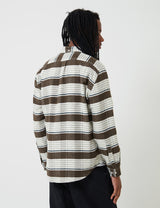 Portuguese Flannel Moss Shirt (Stripe) - White