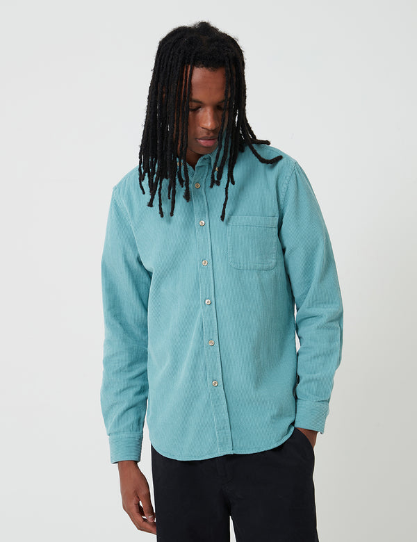 Portuguese Flannel Lobo Corduroy Shirt - Turquoise