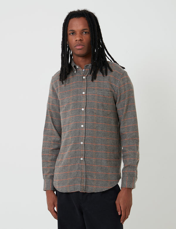 Portuguese Flannel Library Check Shirt - Brown
