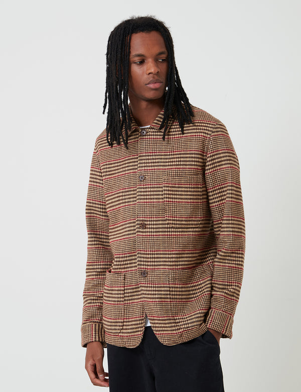 Portuguese Flannel Labura Jacket (Check) - Brown