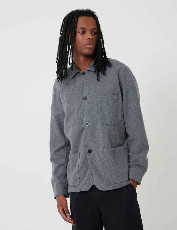 Portuguese Flannel Labura Jacket - Grey