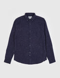 Bellfield Baden Long Sleeve Brushed Shirt - Navy