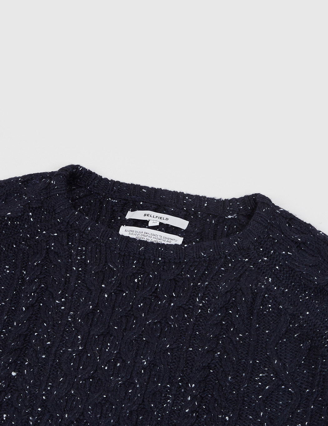 Bellfield Cheveley Cable Knit Jumper - Navy
