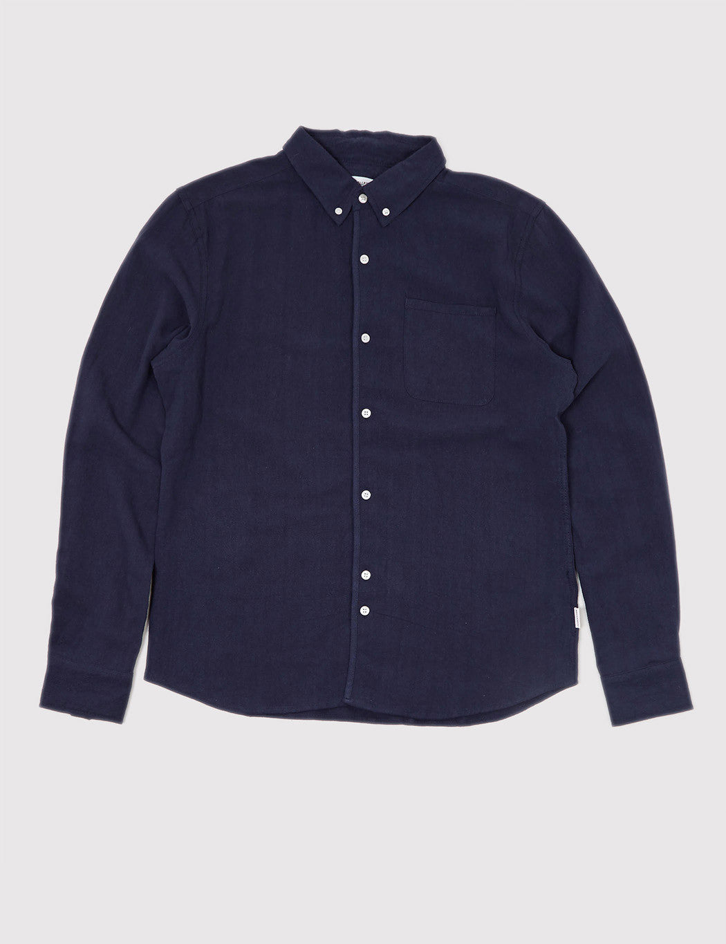 Bellfield Connaught Long Sleeve Shirt - Dark Blue