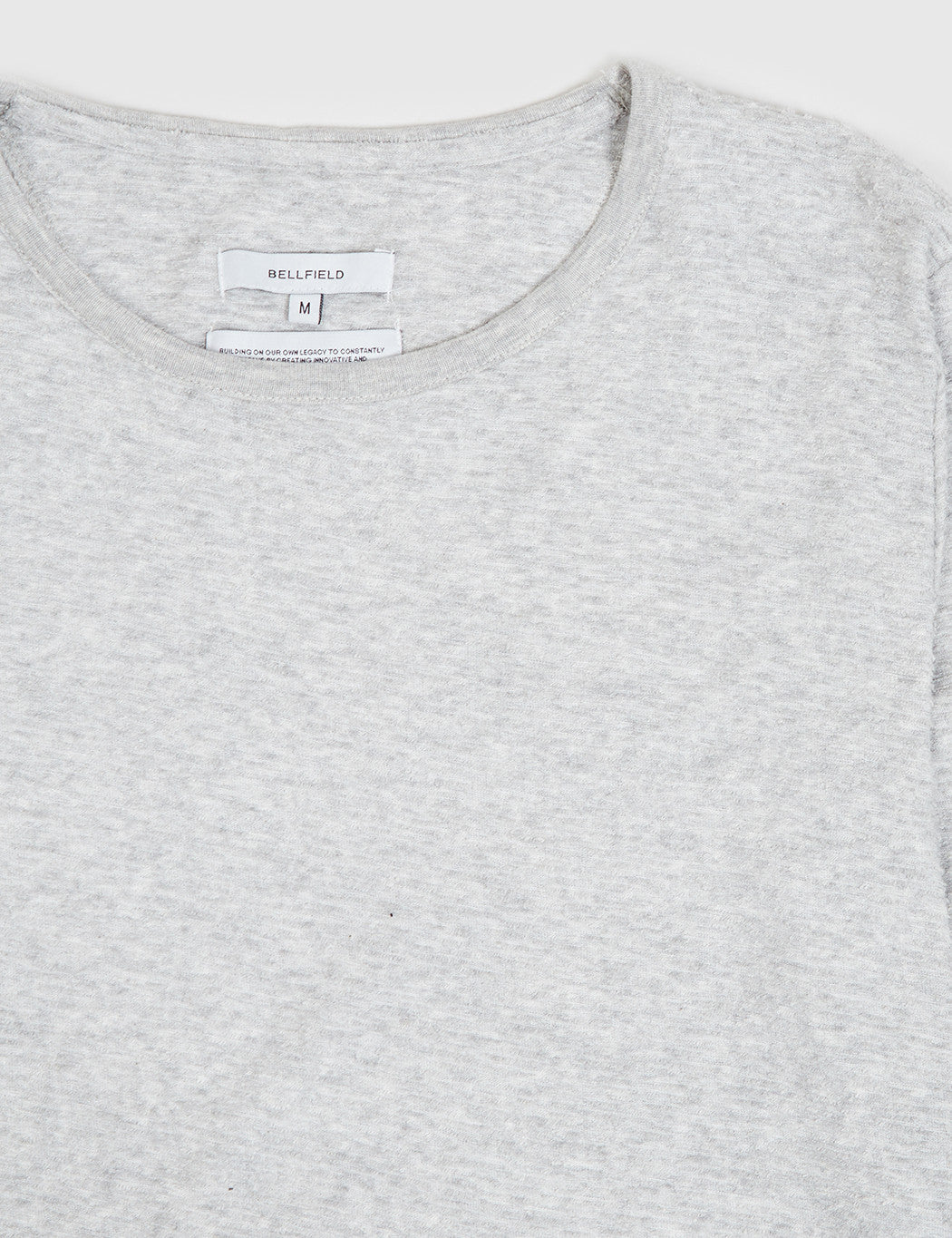Bellfield Glendale Long Sleeve T-Shirt - Light Grey