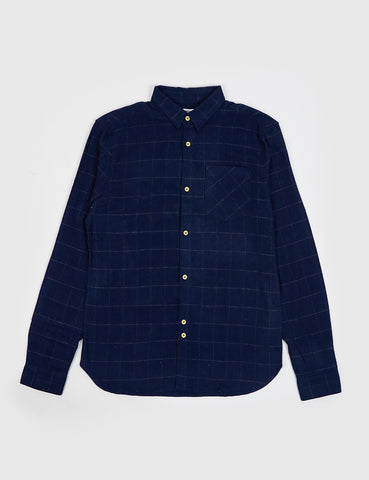 Bellfield Sakai Checked Shirt - Navy