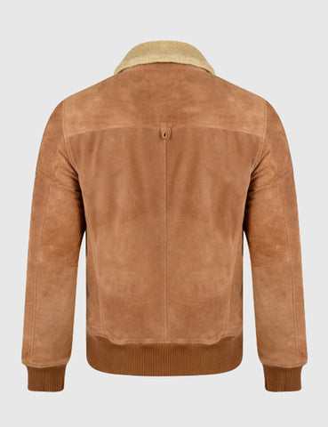Bellfield Santo Suede Flying Jacket - Tan