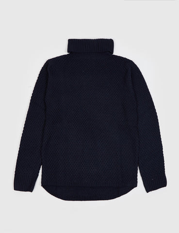 Bellfield Saxford Roll Neck Jumper - Navy