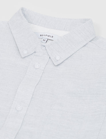 Bellfield Wester Textured Shirt - Light Grey