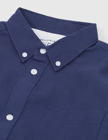 Bellfield Wester Textured Shirt - Navy Blue