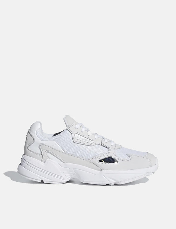 Womens adidas Falcon Shoes (B28128) - Cloud White/Crystal White