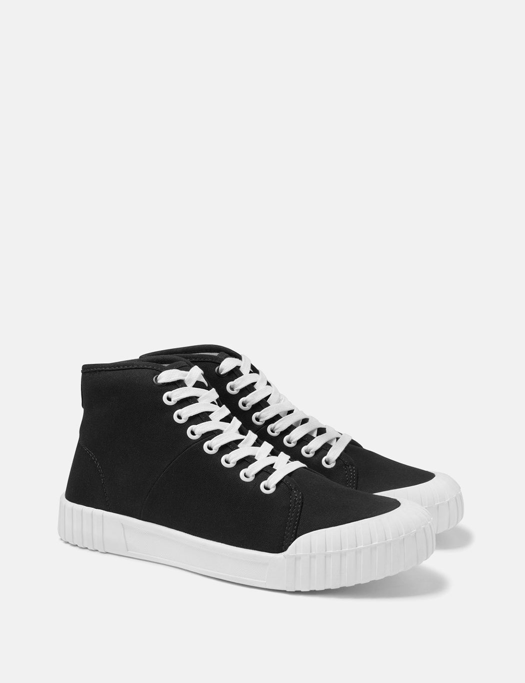 Good News Bagger Hi Trainers (Canvas) - Black
