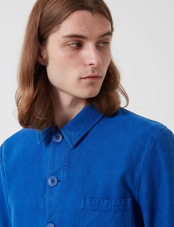 Bhode Chore Workwear Jacket - Buggati Blue (Overdyed)