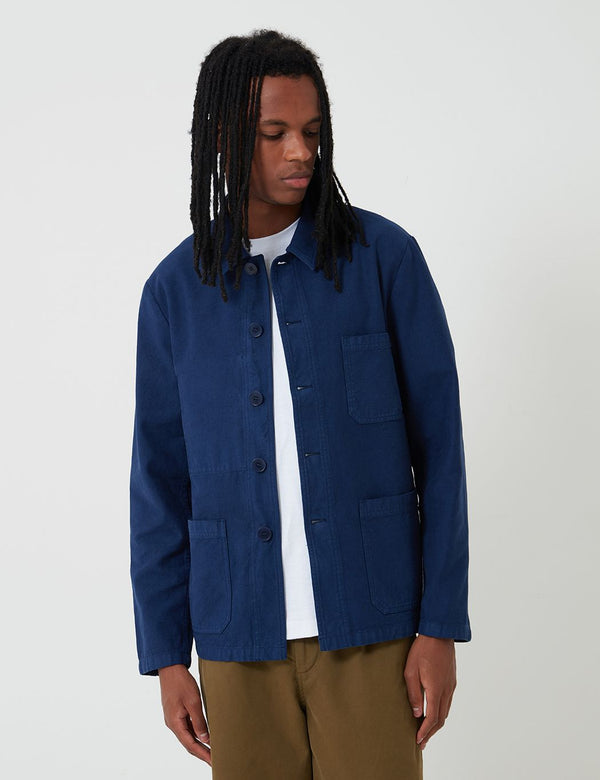 Bhode Chore Workwear Jacket (Overdyed) - Medieval Navy